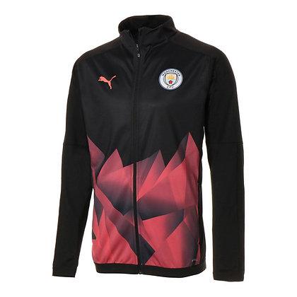 Men's Manchester City International Stadium PUMA Black/Peach Jacket 19/20