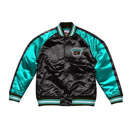 Men's Vancouver Grizzlies Mitchell & Ness Color Blocked Satin Jacket
