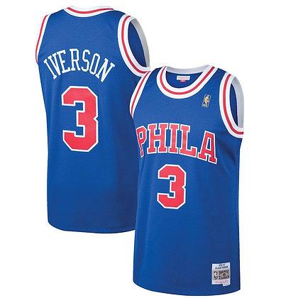 Men's Philadelphia 76ers Allen Iverson Mitchell & Ness Royal 96-97 HWC Swingman