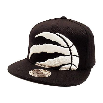 Men's Toronto Raptors Mitchell and Ness XL White Logo Cropped Snapback