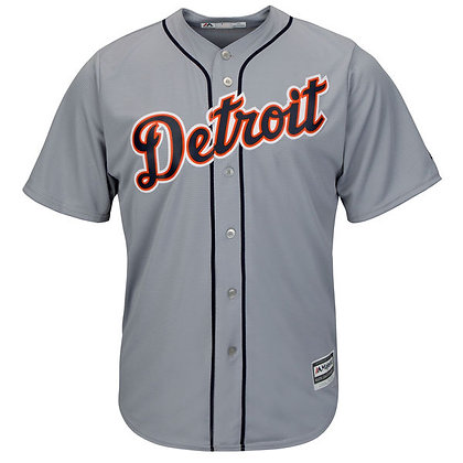 Men's Detroit Tigers Majestic Gray Road Cool Base Team Jersey