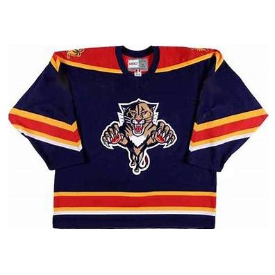 Men's Florida Panthers CCM Vintage Navy Jersey