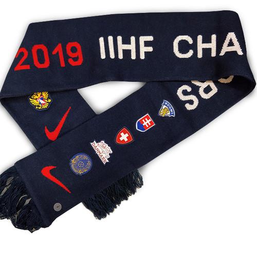 2019 IIHF World Junior Championship Nike Embroidery Scarf