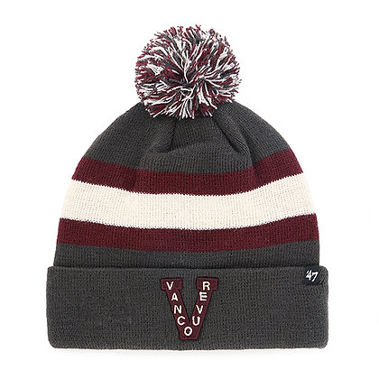 Vancouver Millionaires '47 Brand Charcoal Breakaway Toque / Beanie