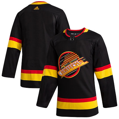 Men's Vancouver Canucks adidas Black 2019/20 Flying Skate - Authentic Jersey