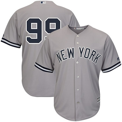 Men's New York Yankees Aaron Judge Majestic Gray Road Cool Base Jersey