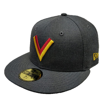 Vancouver Canucks V logo Heather Grey 59fifty Fitted hat