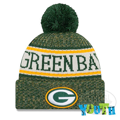 Youth Green Bay Packers New Era 2018 NFL Sideline Cold Weather Knit Hat