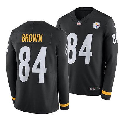 Men's Pittsburgh Steelers Antonio Brown Nike Long-Sleeve Thermal Jersey
