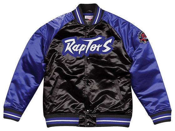 Men's Toronto Raptors Vintage Mitchell & Ness Black / Purple Satin Jacket