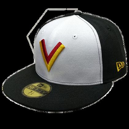 Vancouver Canucks V logo White/Black 59fifty fitted hat