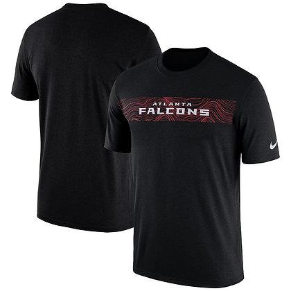Men's Atlanta Falcons Nike Black Sideline Seismic Performance T-Shirt
