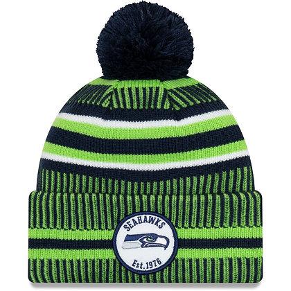 Men's Seattle Seahawks New Era Navy/Neon Green 2019 NFL Sideline Home Official S