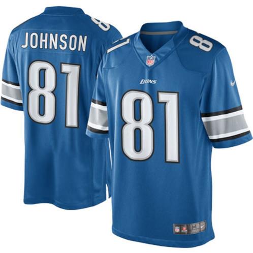 finest selection 0f5e8 b57ad Men's Detroit Lions Kerryon Johnson Nike Blue Limited Jersey
