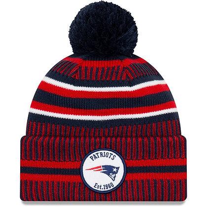 Men's New England Patriots New Era Navy/Red 2019 NFL Sideline Home Official Spor