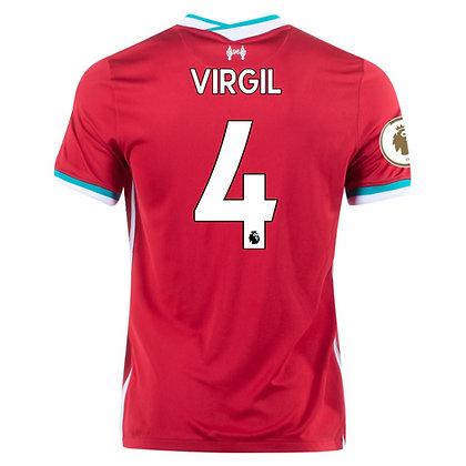 Men's Liverpool Virgil Van Dijk Home Nike jersey 2020/21