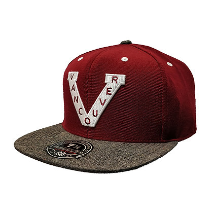 Men's Vancouver Millionaires Mitchell & Ness Maroon Splashed-Grey Fitted Hat