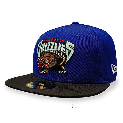Men's Vancouver Grizzlies Blue / Black New Era 59FIFTY Fitted Hat