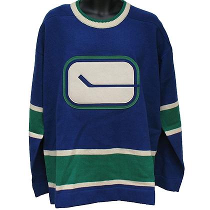 Men's Vancouver Canucks Vintage Sweater Blue Reebok Rodger Edwards