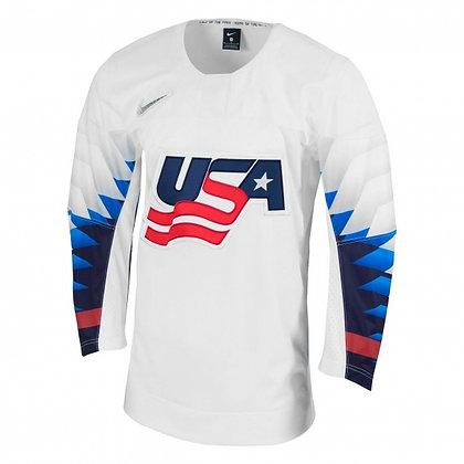 Men's Team USA 2019 IIHF World Junior Championship Replica White Jersey