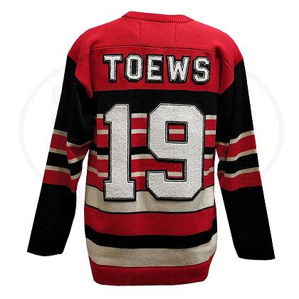 Men's Chicago Blackhawks Toews #19 Heritage Reebok Sweater by Roger Edwards