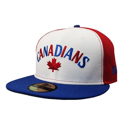 Men's Vancouver Canadians Pinwheel New Era White/ Red/ Blue 59FIFTY Fitted Hat