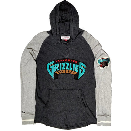 Men's Vancouver Grizzlies Slugfest Mitchell and Ness Lightweight Hoodie