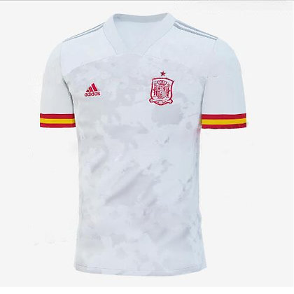 Men's Spain Away adidas Euro 2020 Blank Jersey