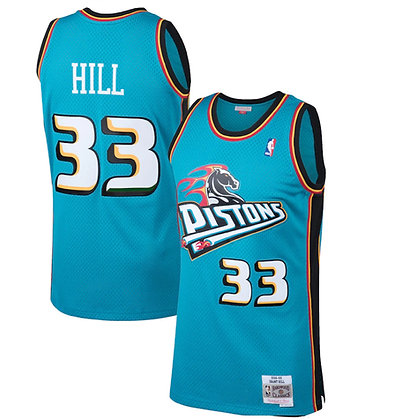 Men's Detroit Pistons Grant Hill Teal 98-99  HWC Swingman Jersey