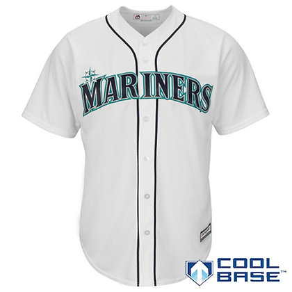 Men's Seattle Mariners Majestic White Home Cool Base Jersey