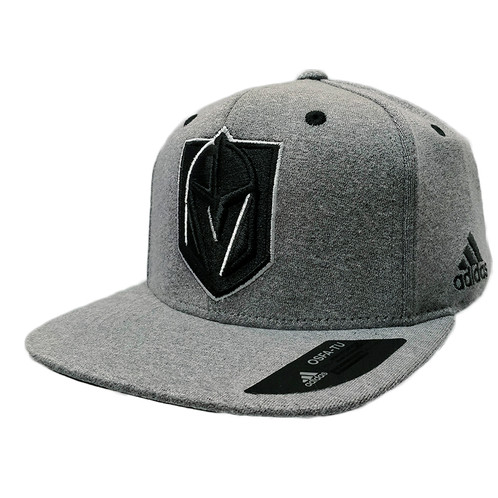 the best attitude f11cf 24bd3 Men's Vegas Golden Knights adidas Light Heather Grey Snapback Hat