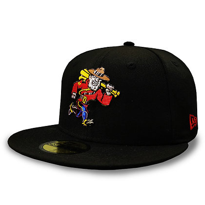 Vancouver Canadians New Era Liquid Metal Mountie Black 59FIFTY Fitted Hat