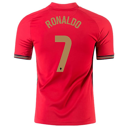 Men's Portugal CRISTIANO RONALDO Stadium Home Nike Euro 2020 Jersey