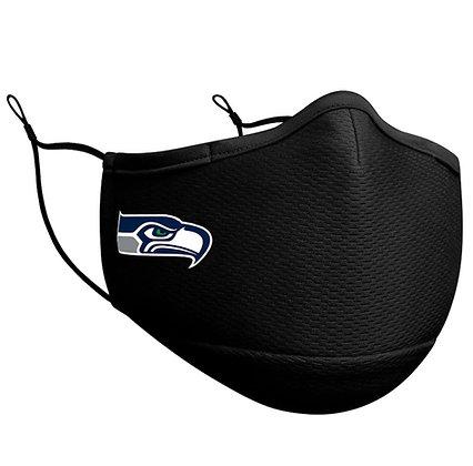 Adult Seattle Seahawks New Era Black On-Field Face Mask