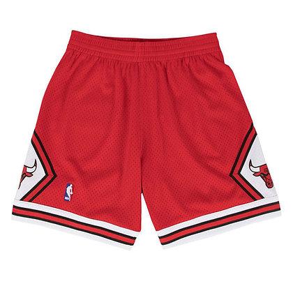 Men's Chicago Bull Red Mitchell & Ness Swingman Shorts