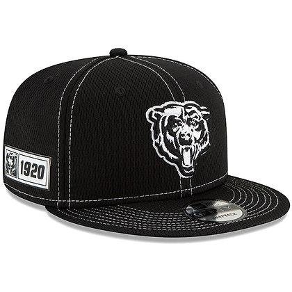 Men's Chicago Bears New Era Black 2019 Sideline Road 9FIFTY Snapback