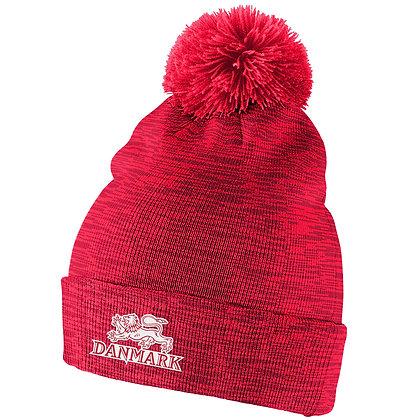 Team Denmark IIHF 2019 World Junior Champ. Nike Cuffed Pom Knit Hat / Beanie