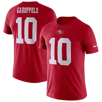 Men's San Francisco 49ers Jimmy Garoppolo Nike Scarlet Player Pride 3.0 T-Shirt