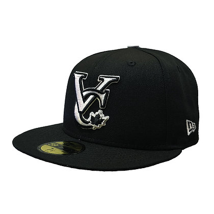 Men's Vancouver Canadians New Era VC Logo White on Black 59FIFTY Fitted Hat