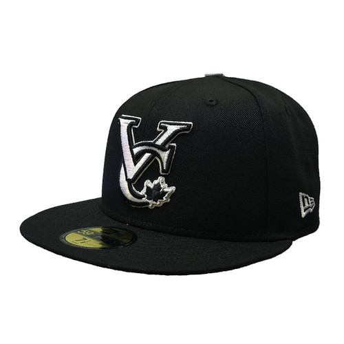reputable site b69e1 28dfa Men s Vancouver Canadians New Era VC Logo White on Black 59FIFTY Fitted Hat