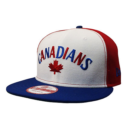 Men's Vancouver Canadians Pinwheel New Era White/ Red/ Blue 9FIFTY Snapback