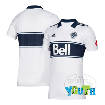 Youth's Vancouver Whitecaps FC White adidas 2019 Replica Jersey