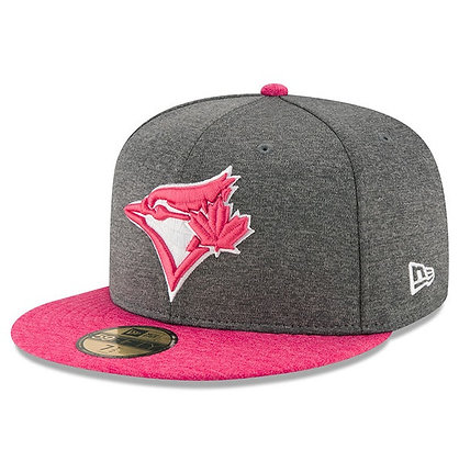 Toronto Blue Jays Mothers day 2017 New Era Heather Gray/ Pink 59FIFTY Fitted Hat