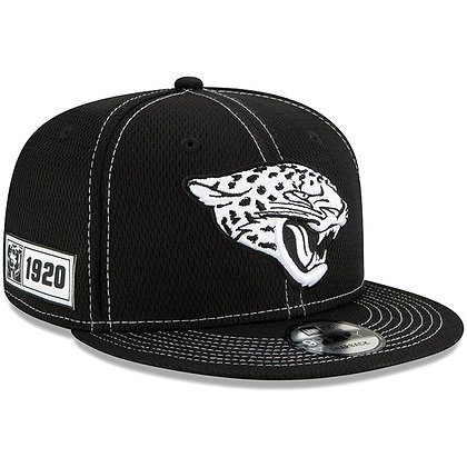 Men's Jacksonville Jaguars New Era Black 2019 Sideline Road 9FIFTY Snapback