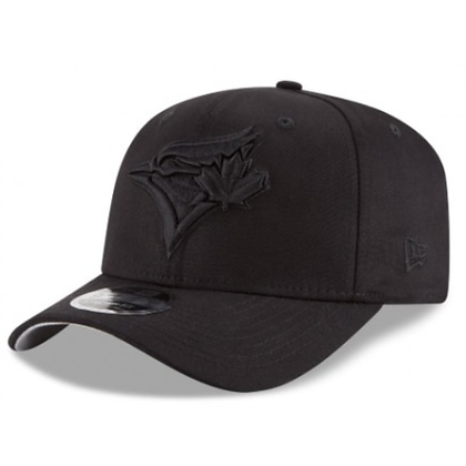 Men's Toronto Blue Jays NewEra Black on Black Stretch 9FIFTY Snapback Adjustable