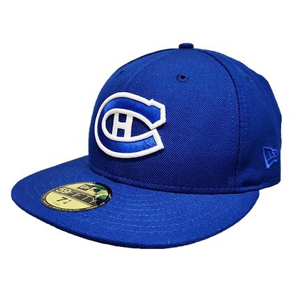 Montreal Canadiens Custom White on Blue 59fifty fitted hat