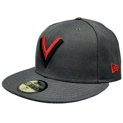 Men's Vancouver Millioniares Flying V Dark Grey New Era 59FIFTY Fitted Hat