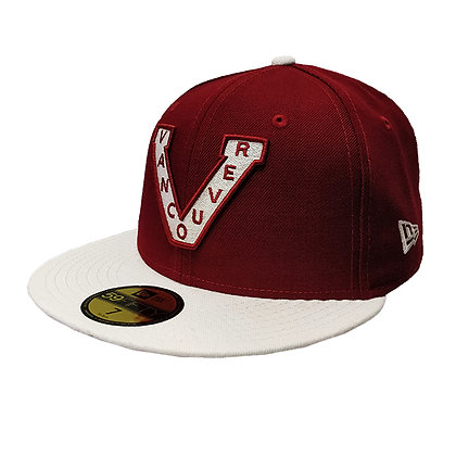 Men's Vancouver Millionaires New Era Trim Logo Maroon/Ivory 59FIFTY Fitted H