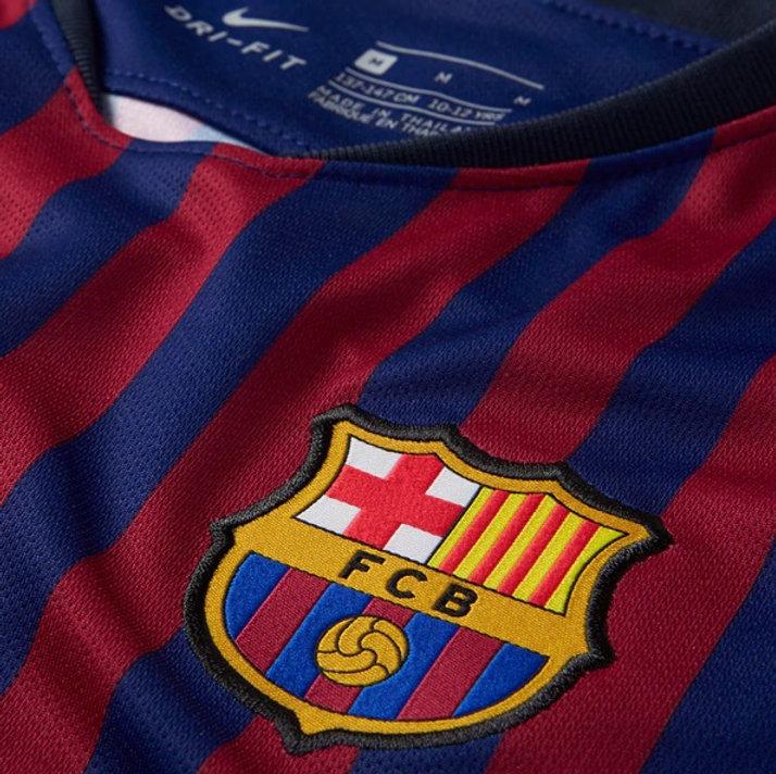 half off 3290e e7d74 Men's FC Barcelona Lionel Messi Nike Home Long Sleeve Jersey 2018/19
