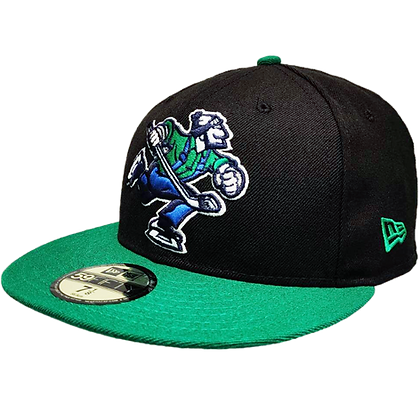 Men's Vancouver Canucks Full Body Johnny Canuck Green Brim 59FIFTY Fitted Hat